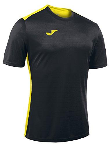 Joma Campus II Camiseta de Juego Manga Corta, Hombre, Negro/Amarillo, XS