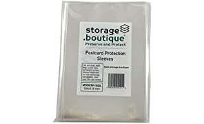 Storage.boutique, Buste di protezione per cartoline, senza acidi, trasparenti, resistenti ai graffi, leggere, Modern