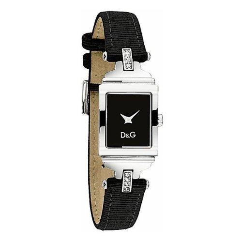 Dolce & Gabbana DW0334 - Reloj analógico de cuarzo para mujer con correa de piel, color negro