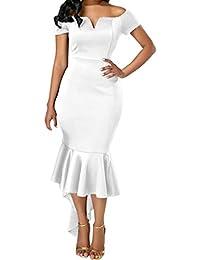 LILICAT Vintage Kleid Lang Elegant Abendkleider Cocktailkleid Festlich  Partykleid Ballkleid Rockabilly 50s Retro… e6e6732837