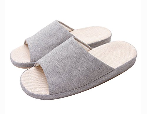 (Made By Flax) Skidproof Le Style Simple De Pantoufles(Gris)