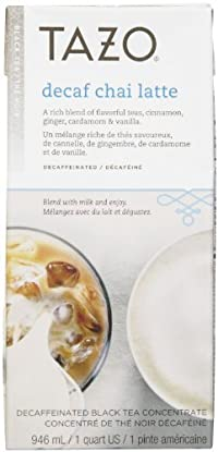 Tazo Decaf Latte Chai Tea, 32 oz