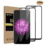 G-Most OnePlus 6Displayschutzfolie [2er Pack] [Full selbstklebend] [Full Deckung] HD Tempered Glas Screen Cover Shield für oneplus6–Schwarz