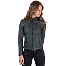 purchase cheap 0a881 ec82e Amazon.it: Giacca In Pelle Biker - Verde