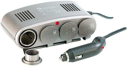 reVolt 12 Volt Verteiler: 4-Fach Kfz-Verteiler 12V z.B. für Zigarettenanzünder (12V Steckdose Auto) -