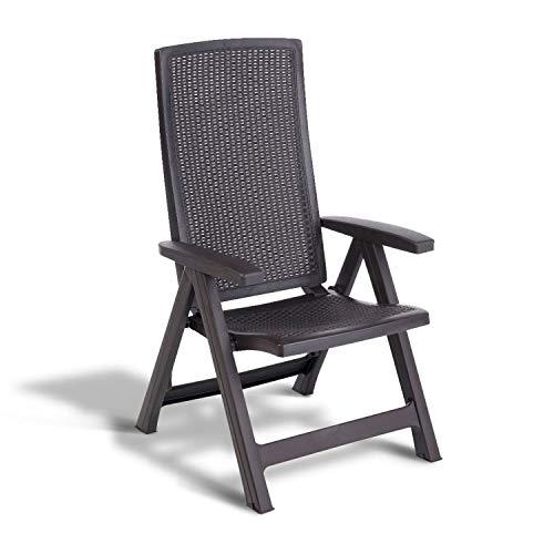 Allibert Gartenstuhl, klappbar, Braun EIN Set mit Zwei Stühlen, Outdoor Patio Seat 223476
