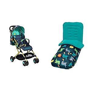Cosatto Woosh Drgon Kingdom Stroller and Matching Footmuff Bundle   6