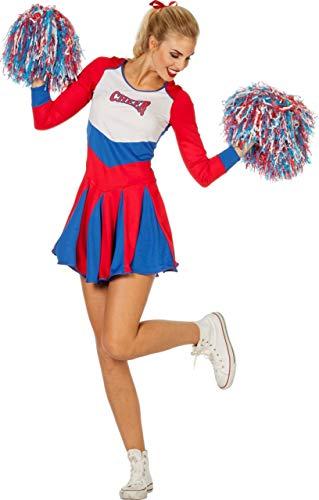 Chearleader Kostüm - Wilbers Cheerleader Kostüm für Damen blau-rot