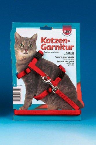 TRIXIE pettorina gatto con guinzaglio colore viola