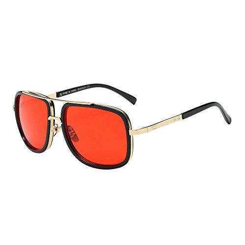Likecrazy Klassische Sonnenbrillen Damen Herren Mode Quadrate Metallrahmen Erwachsene Retro Runde Sonnenbrillen Vintage Look Qualität UV400 Brillen Männer Frauen ()