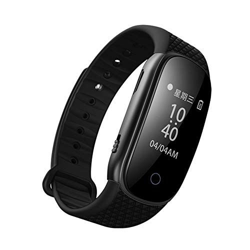 BEAUTPINE Wearable Digital Voice Activated Recorder Pen 8GB Wristband Voice Activated Armband Musik-Player MP3 (Mp3-player Voice Activated)