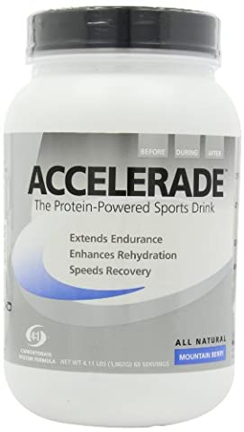 Accelerade Sports Drink Powder 60 Serving Mountain Berry by Pacific Health