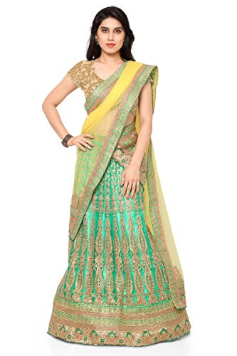 NAAIDAAKHO LIGHT GREEN AND YELLOW COLOR LEHENGA CHOLI