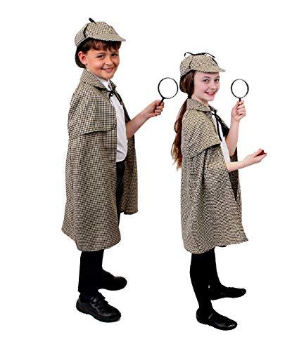 ILOVEFANCYDRESS BERÜHMTER Kinder ENGLISCHER Detective =Sherlock Watson =KOSTÜM VERKLEIDUNG MIT Lupe =2 - Holmes Und Watson Kostüm