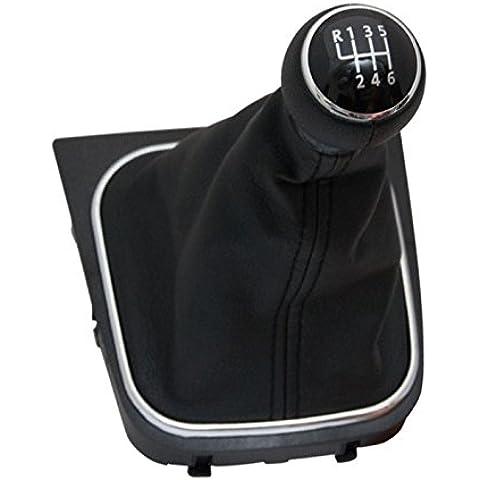 Negro pomo de palanca de cambio de coche con fuelle y Base para VW Golf Mk5Mk6Jetta III EOS con cambio velocidad 1–6& R OEM