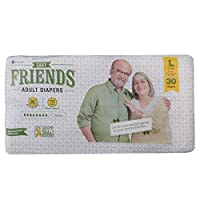 Friends Easy Adult Diapers Large, 30 Count