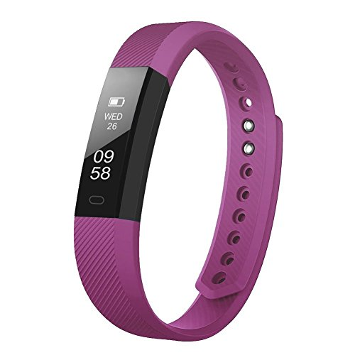 Upgrated-Fitness-Tracker-Self-Timer-Slim-Smart-Watch-New-Bracelet-Bluetooth-Call-Reminder-Calorie-Counter-Wireless-Pedometer-Band-Sport-Sleep-Monitor-Activity-Tracker-For-Android-iOS-Phone-NEW-Purple
