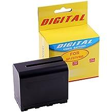 Photoprimus® Batería de reemplazo para Sony Camcorder NP-F970 / NP-F960 - 6750mAh - 7.4V - con Infochip (más fuerte que el original!) Adecuada para: Sony HDR-FX1 Sony DCR-VX1000 Sony HDR-FX1000E Sony HDR-AX2000E Sony DCR-TRV120E Sony HVR-HD1000E Sony DCR-TRV900E Sony DCR-TRV110E Sony HDR-FX7 Sony DCR-VX2100 Sony DCR-TRV210E Sony HDR-FX1E y muchos más