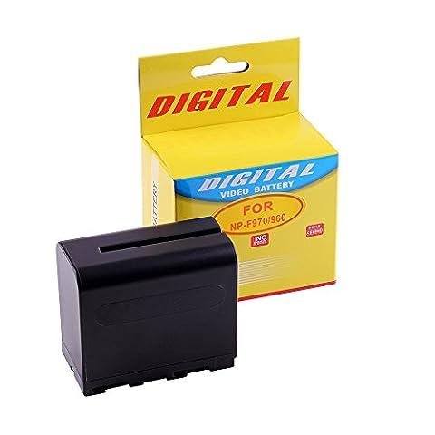 Photoprimus® Batterie de rechange de haute capacité pour Sony NP-F970 / NP-F960 avec 6750mAh compatible avec Sony HDR-FX1 Sony DCR-VX1000 Sony HDR-FX1000E Sony HDR-AX2000E Sony DCR-TRV120E Sony HVR-HD1000E Sony DCR-TRV900E Sony DCR-TRV110E Sony HDR-FX7 Sony DCR-VX2100 Sony DCR-TRV210E Sony