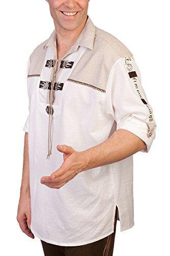 orbis Textil H1313 Weiß - Schlupfhemd mit Krempelarmfunktion, Größe 6XL