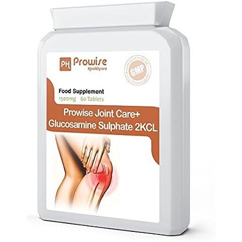 Conjunto Prowise Care + sulfato de glucosamina 2KCl 1500mg 60 Comprimidos - rápida absorción apoyo específico a las articulaciones y el cartílago de la Salud, el crecimiento muscular y la construcción - Joint Apoyo, cuidado de las articulaciones y mejora la artritis - Fabricado en el Reino Unido