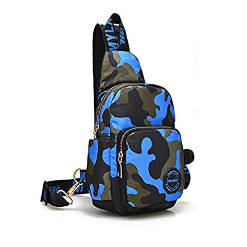 Ezyoutdoor Unisex Camouflage Outdoor Sling Shoulder Backpack Chest Bags Crossbody Backpack for Hiking School Camping Travel