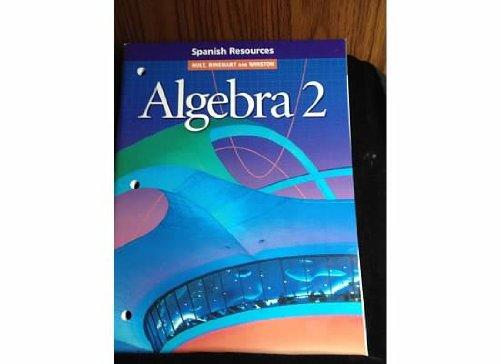 Spn Resources Alg 2 2001 por Holt Rinehart & Winston