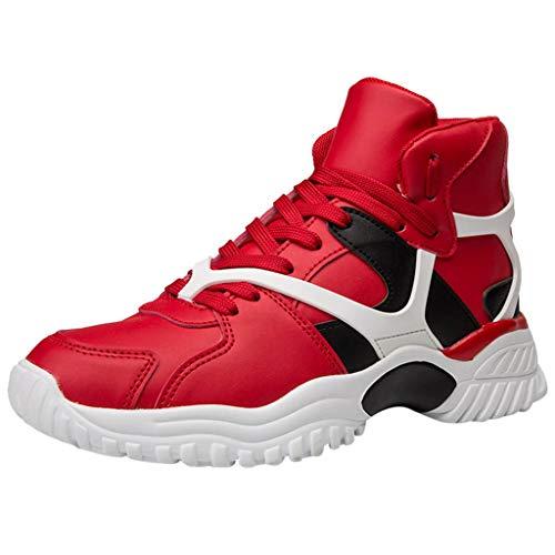 Selou Sneakers da Uomo, Moda Primavera/Autunno Sneakers Alte in Pelle Leggere da Uomo Scarpe da Corsa All'Aperto