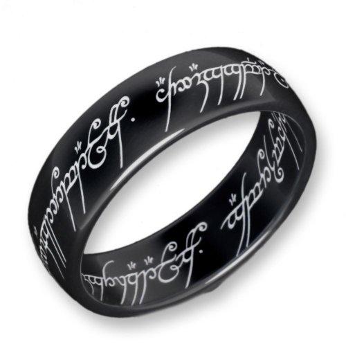 Herr der Ringe Schumann Design Ring Titan-Blackline Rg 56 2001-056 (Herr Ringe Titan Ring Der)