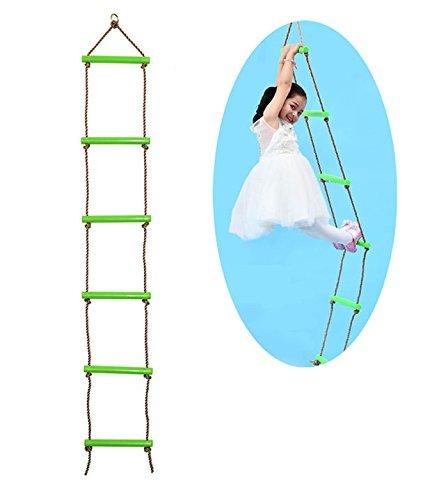 COMINGFIT® Escalera de escalada robusta para interiores y exteriores para niños (verde)