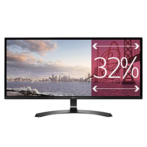 "LG 29UM59A-P - Monitor Profesional UltraWide FHD de 73,7 cm (29"") con Panel IPS (2560 x 1080 píxeles, 21:9, 250 cd/m², sRGB >99%, 1000:1, 5 ms, 75 Hz) Color Negro"