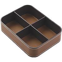 Laredo InterDesign-Organizer da scrivania, con 4 scomparti, colore: marrone scuro/Marrone
