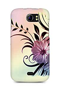 Amez designer printed 3d premium high quality back case cover for Micromax Canvas 2 A110 (Flowers drawings patterns wavy light)
