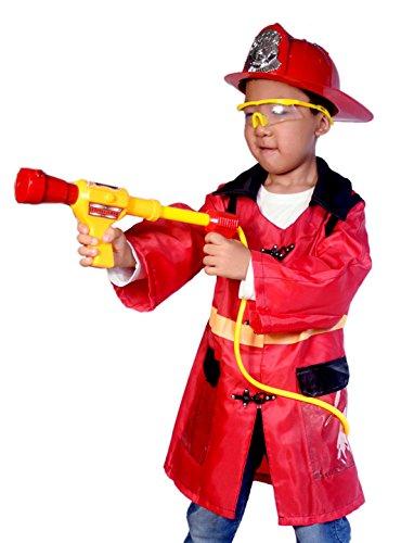 Feuerwehrmann -Hut und Feuerwehrmann -Rucksack-Wasser-Gewehr-Druck-Wasser Gun Feuer Clothing Kinder Rollenspiele Spielzeug für Kinder (Hüte Feuerwehrmann)
