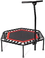 SportPlus - trampoline de fitness, système de cordes bungee, Ø 110 cm, poids de l'utilisateur jusqu'à 130 kg, sécurité contrôlée par le TÜV