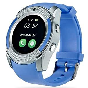 Samsung Wave II S8530 COMPATIBLE ZTE V8+ Bluetooth Smartwatch With Sim & Tf Card Support With Apps Like Facebook And Whatsapp Touch Screen Multilanguage Android/Ios Mobile Phone Wrist Watch Phone With Activity Tracker And Fitness Band By VELL- TECH ZTE V8+ Bluetooth Smartwatch With Sim & Tf Card Support With Apps Like Facebook And Whatsapp Touch Screen Multilanguage Android/Ios Mobile Phone Wrist Watch Phone With Activity Tracker And Fitness Band By VELL- TECH