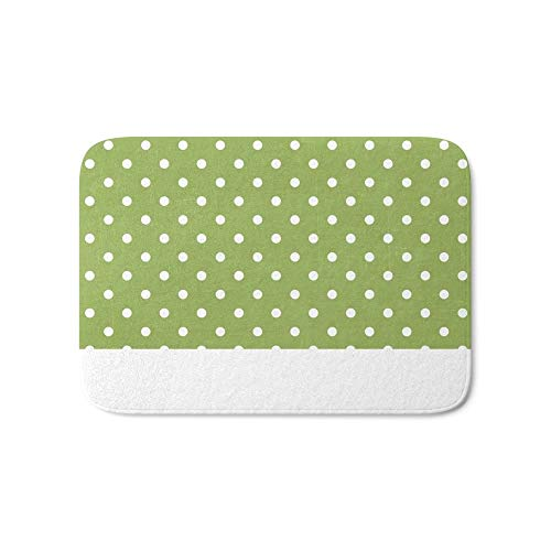 Jolly2T Swiss Dots - Green Bath Mat 20