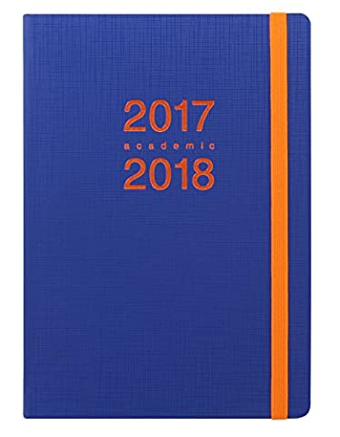 Letts A5 Memo Week To View 17/18 Academic Diary - Navy/Orange