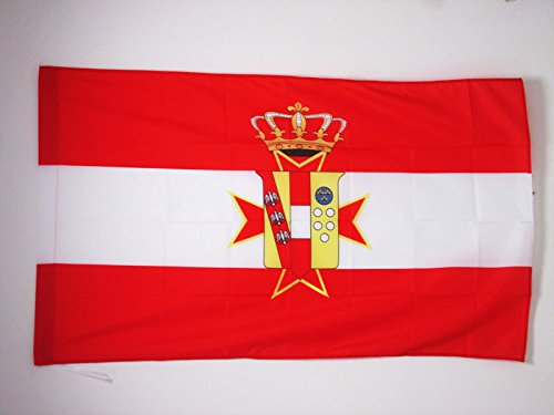 BANDIERA GRANDUCATO DI TOSCANA 1569-1859 90x60cm - BANDIERA TOSCANA - ITALIA 60 x 90 cm foro per asta - AZ FLAG
