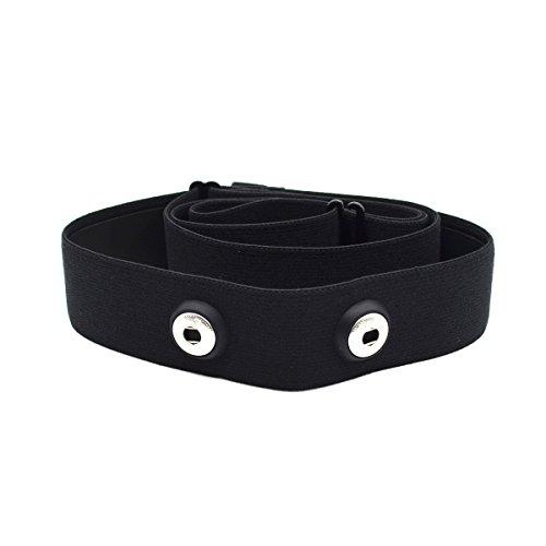 Elastischer Sport Herzfrequenzmesser, Verstellbarer Brustgurt, Gürtelriemen , CooSpo Original HRM Belt Black (MEHRWEG)