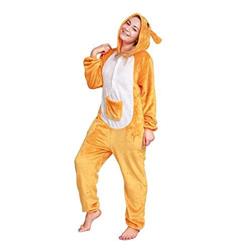 Kostüm Plüsch Känguru - Softan Erwachsene Tier Pyjamas Kostüm Plüsch Cosplay Onesies Nachtwäsche