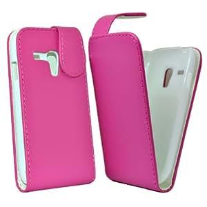 Accessory Master - Rose Housse étui coque cuir pour Samsung galaxy S3 mini i8190