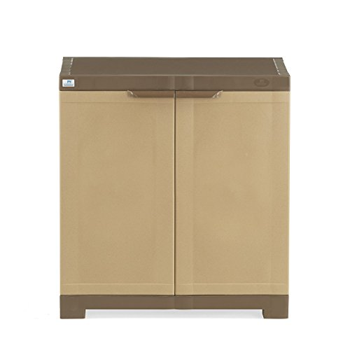 Nilkamal Freedom 09 Mini Shoe Cabinet (Sandy Brown and Dark brown)