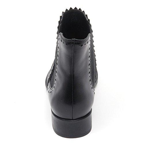 B8335 tronchetto basso donna TOD'S scarpa beatles nero boot shoe woman Nero