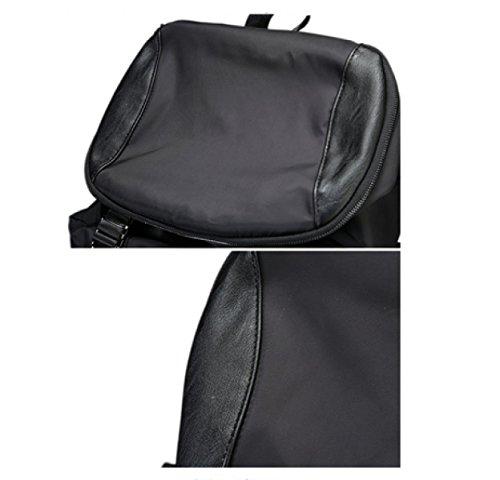 LAIDAYE Mode Rucksäcke Umhängetaschen Außentaschen Sporttaschen Wasserdichte Taschen Nylon Taschen Reisegepäck Black