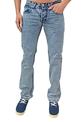 Zico Herren Designer Jeans Skinny Fit Slim Retro Indie Denim, 2 Farben **Verkauf dunkelblau Schnee-waschanlagen Blau