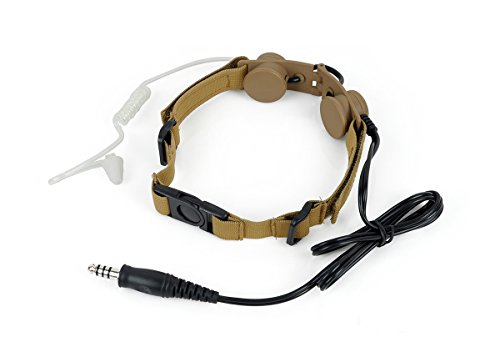 Z Tactical Throat Mic for 2 Way Radio Headset Voice Tube