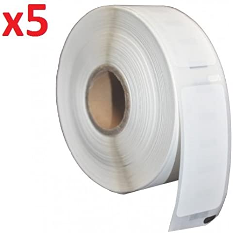 Compatible 99015 White Standard Address Labels Rolls (320 Labels per Roll) for Dymo LabelWriter 310, 320, 330, 330 Turbo, 400, 400 Turbo, 400 Twin Turbo, 400 Duo, 450, 450 Turbo, 450 Twin Turbo, 450 Duo, 4XL, EL40, EL60, Seiko SLP 100, 120, 200, 220, 240, 400, 410, 420, 430, 440, 450, Pro, Plus Label Printers (54mm x 70mm) - FIVE ROLLS