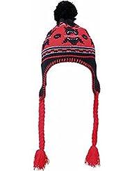 MYRTLE BEACH - Bonnet tricot péruvien norvégien - MB7927 - adulte mixte - noir / rouge