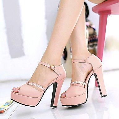 LvYuan Da donna-Sandali-Casual-Altro Club Shoes-Quadrato-Finta pelle-Blu Rosa Beige Arancione Pink